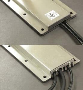 NEMA 2 (oben) und NEMA 4/4X (unten) Optionen von Kabelausgangsplatten