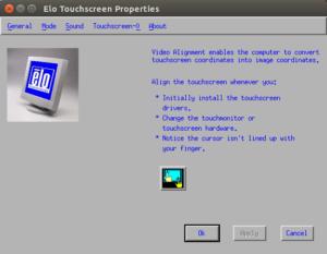 Videoausrichtung beim Touchscreen von Elo