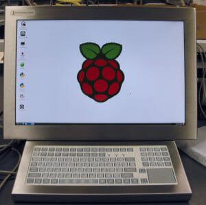 UM22-Touchscreen und -Tastatur von Hope Industrial mit Raspberry Pi im Gehäuse integriert