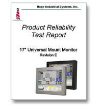 Deckblatt des Zuverlässigkeitstestberichts eines 17-Zoll-Monitors für universelle Befestigung