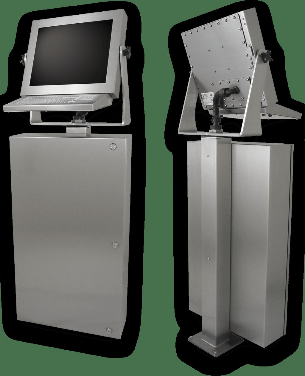 Für die Industrie konzipierte, Touchscreen-Workstations nach IP65/IP66 für die Fabrikhalle