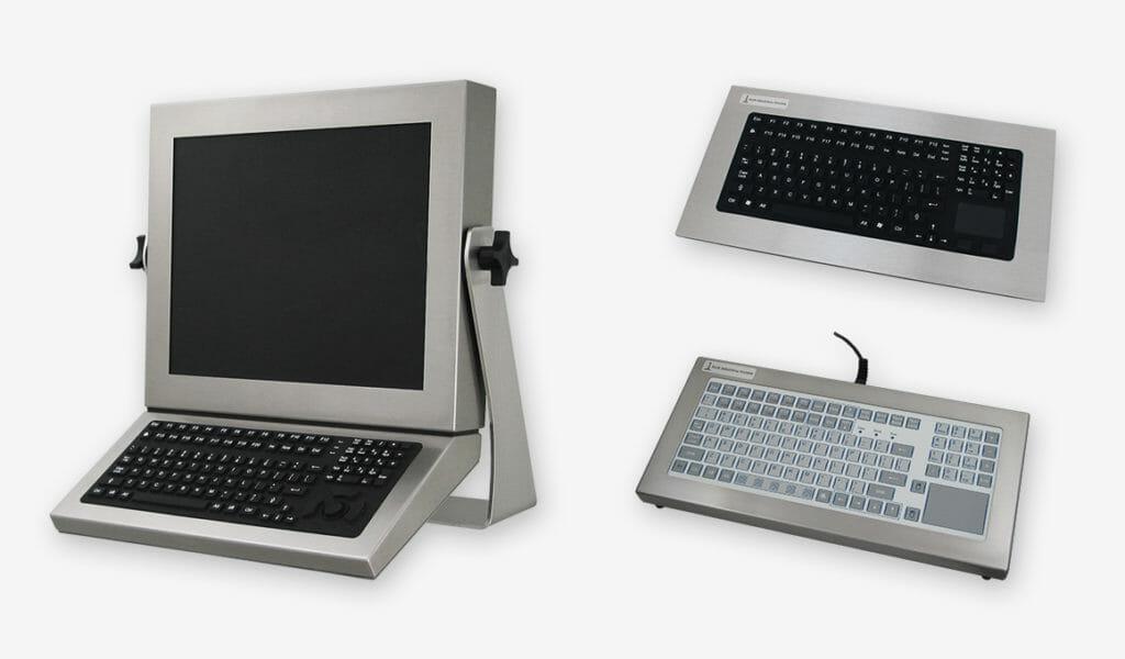 Industrie-Tastaturen, versiegelt nach IP65/66-Standard