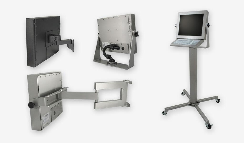 Montageoptionen für Monitore mit Universalhalterung