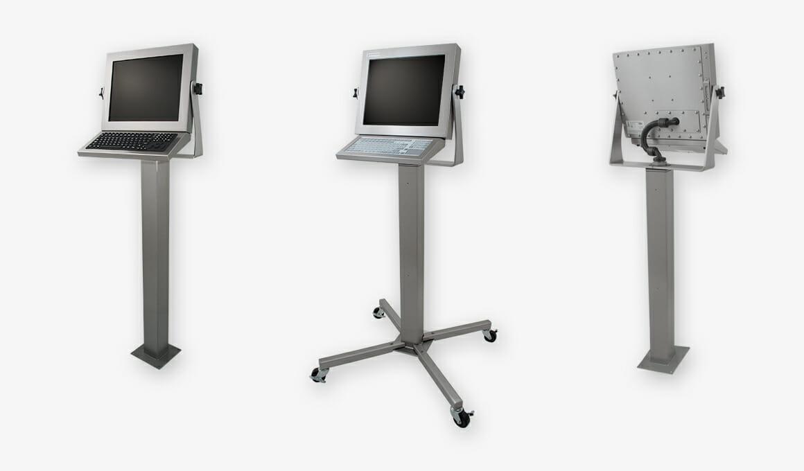 Industriemonitore und robuste IP65/IP66-Touchscreens mit Universalhalterung
