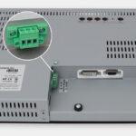 15-Zoll-Industrie-Rackmonitor und robuste IP20-Touchscreens, Ansicht DC-Kabelausgang