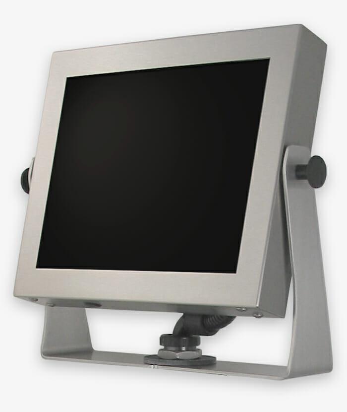 Industrie-Monitore mit Universalhalterung und robuste Touchscreens, vollständig geschlossen, IP65/IP66-Schutzart, Story