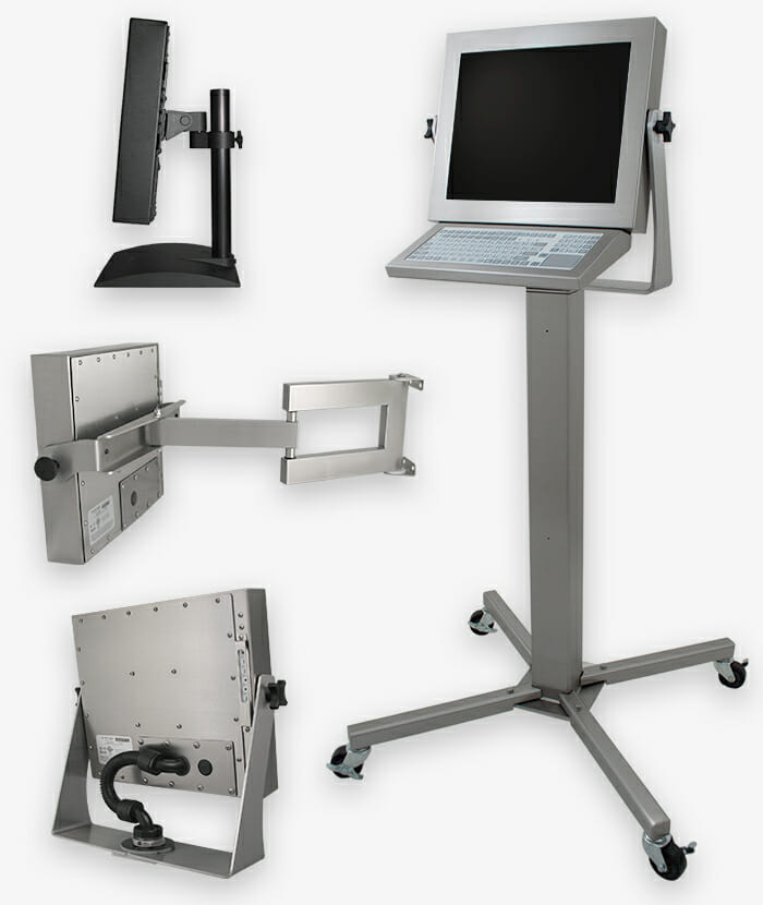 Industrie-Montageoptionen für Monitore mit Universalhalterung