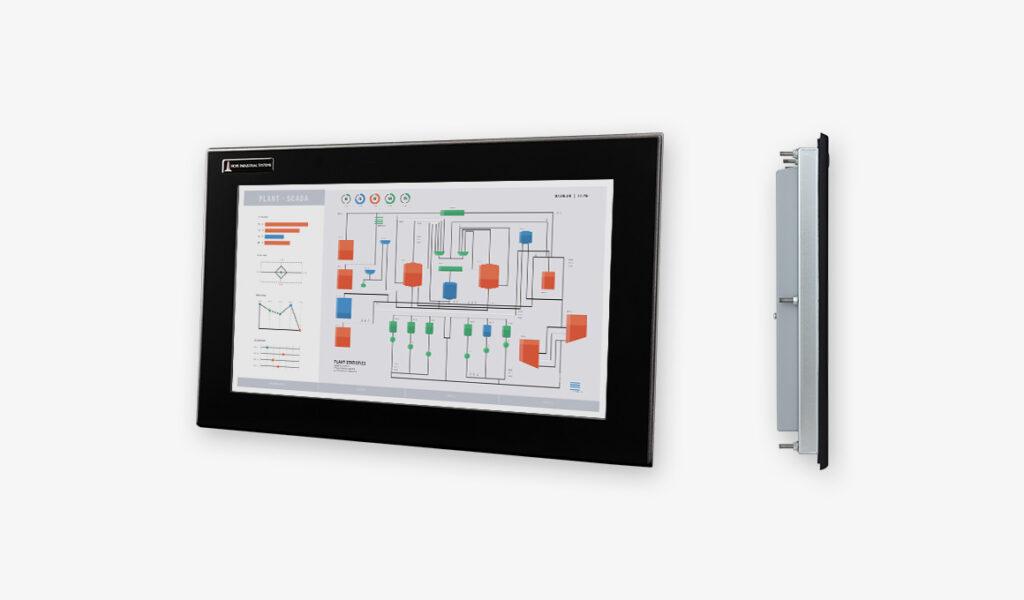 19,5-Zoll-Breitbild-Industrie-Einbaumonitore und robuste Touchscreens