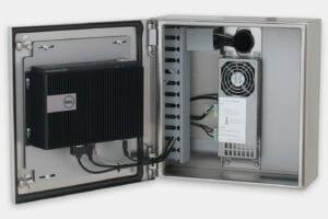Gehäuseinnere mit Dell-Box PC 3000