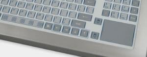 Optionaler Kurzhubtastenblock mit Touchpad nach IP65/IP66