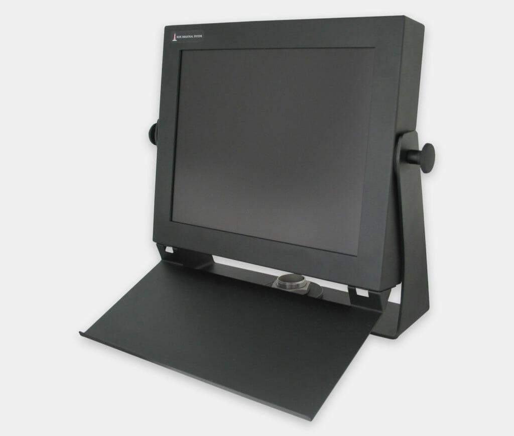 Industrie-Tastaturmontagefach für Befestigung an Monitoren mit Universalhalterung