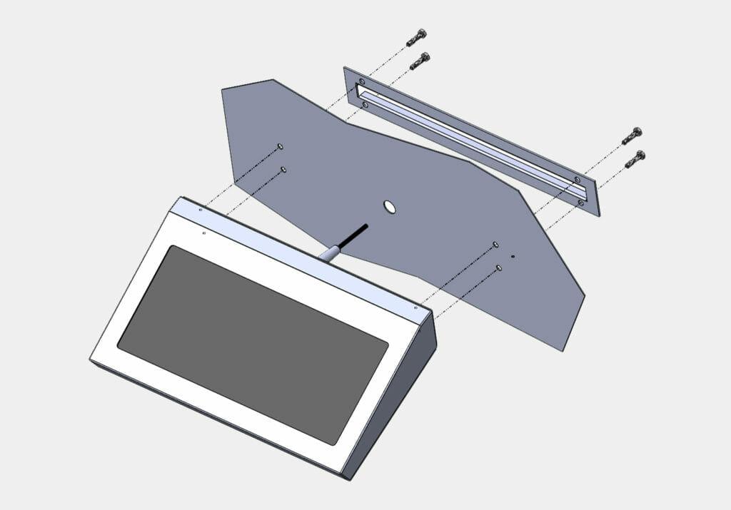 Montagediagramm für Industrie-Tastaturen für Wandmontage