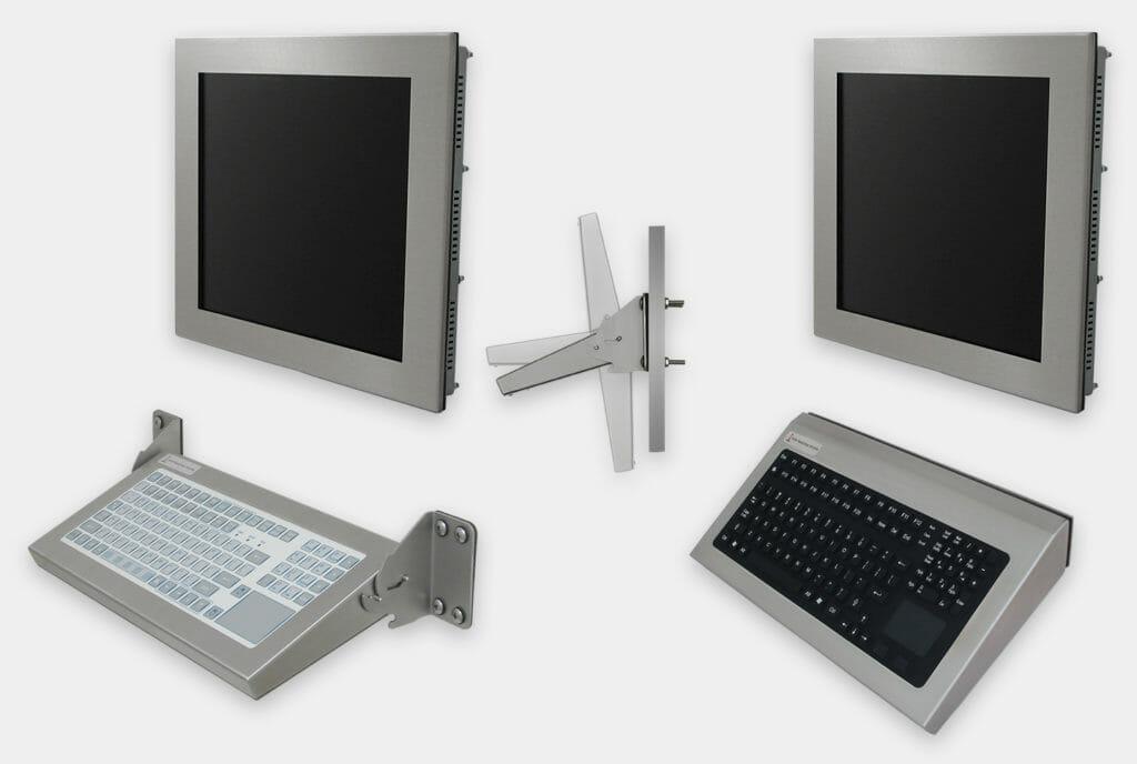 Optionen für Industrie-Tastaturen für Wandmontage, klappbare und fest montierte Modelle