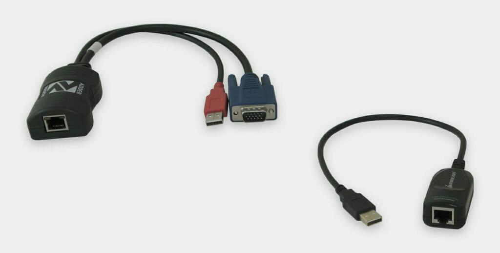60-m-KVM-Industrie-Extender, lokale VGA- und USB-Geräte