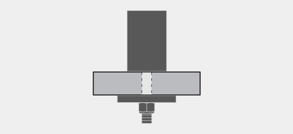 Tischplattenverschraubung