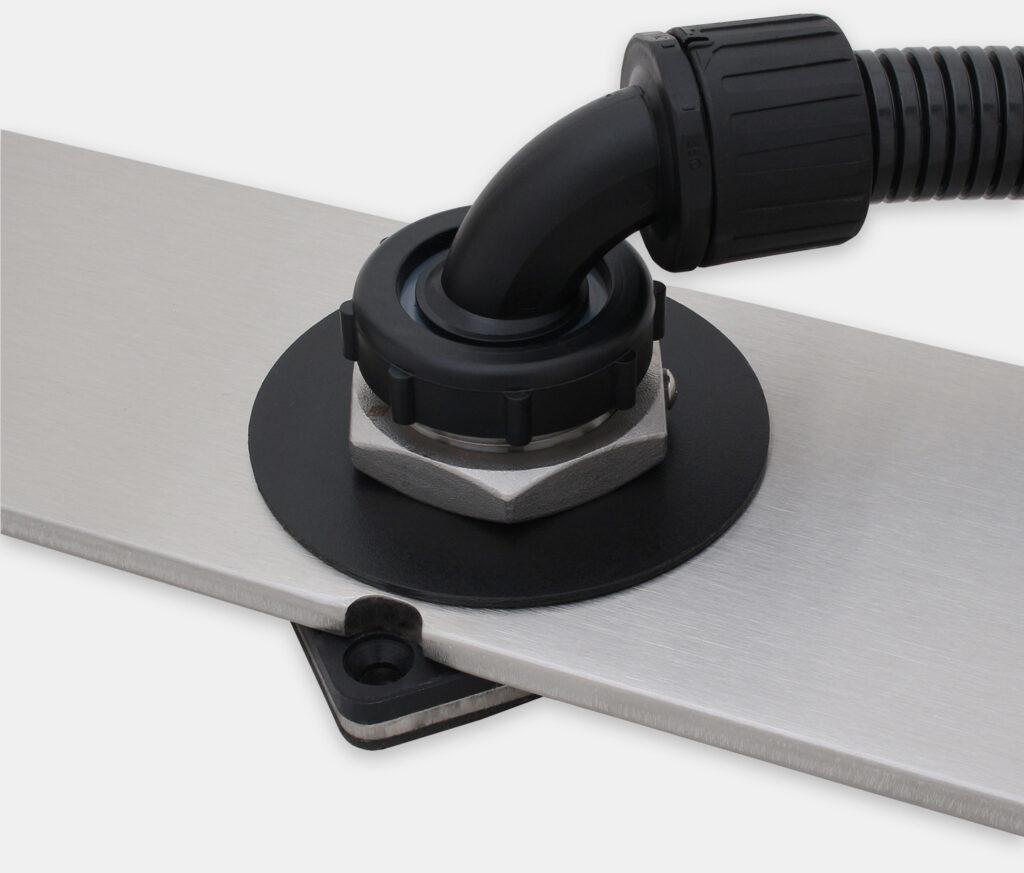 IP65/IP66-U-Halterungs-Tischmontagesatz für Monitore mit Universalhalterung, versiegelte Konfiguration mit Kabelkanal