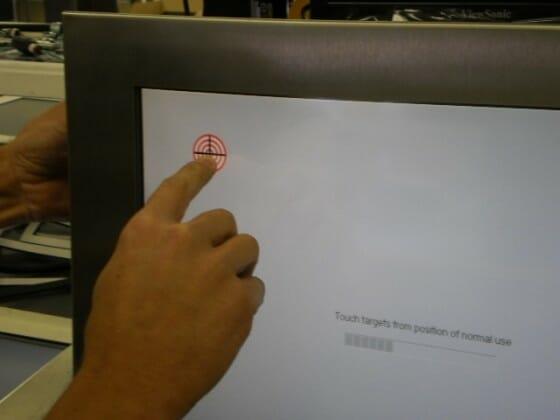 Demonstration der Touchscreen-Ausrichtung