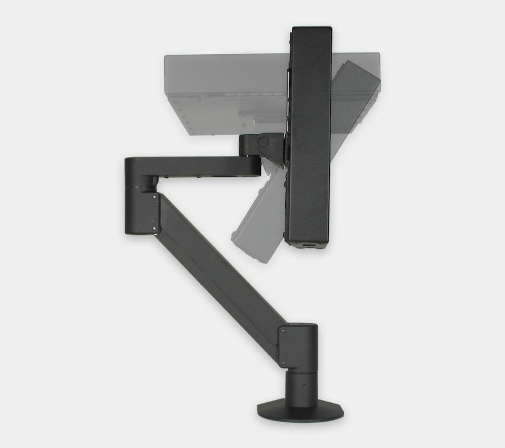VESA-Radialarmhalterung für Industrie-Monitore, Neigungsbereich des Monitors