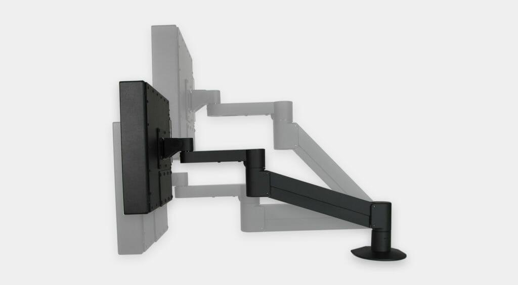 VESA-Radialarmhalterung für Industriemonitore, vertikaler Einstellungsbereich