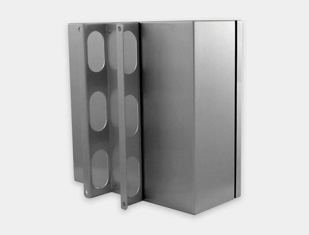 Wandhalterung für Industrie-Gehäuse für Thin Clients und PCs mit kleinem Formfaktor, Edelstahl