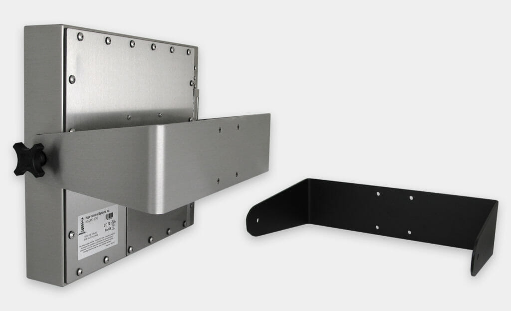 Hochbelastbare U-Halterungen für Monitore mit Universalhalterung, IP65/IP66-zertifiziert