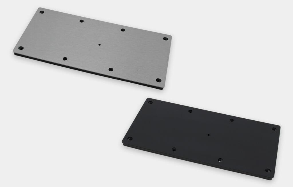 Blindabdeckplatte mit Pilotbohrung für Kabelausgang für Monitore mit Universalhalterung