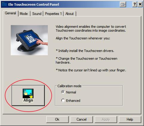 Elo Touchscreen-Bedienfeld